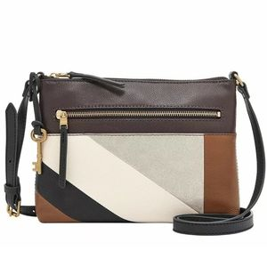 NWOT Fossil Fiona leather patchwork crossbody
